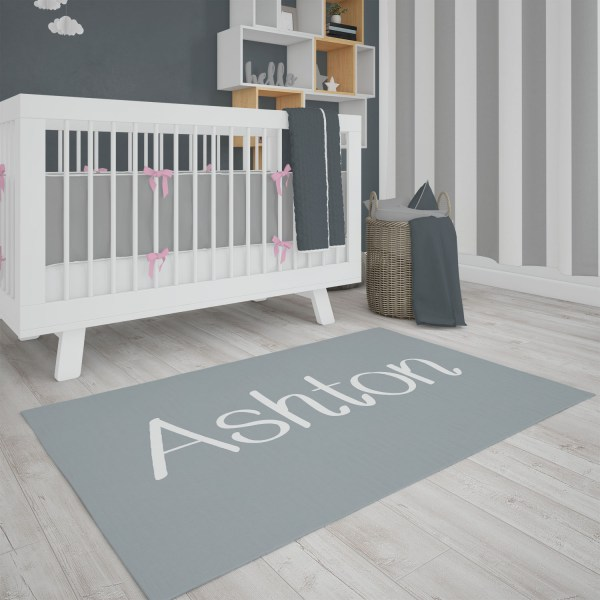 Solid Gray Area Rug