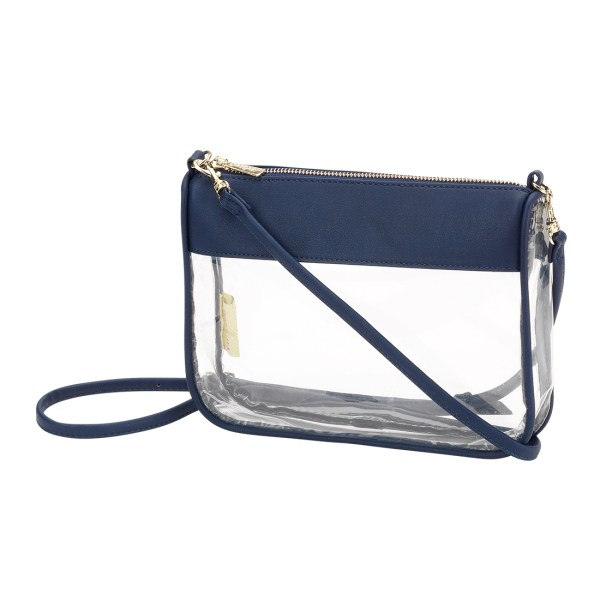Navy Addison Clear Purse