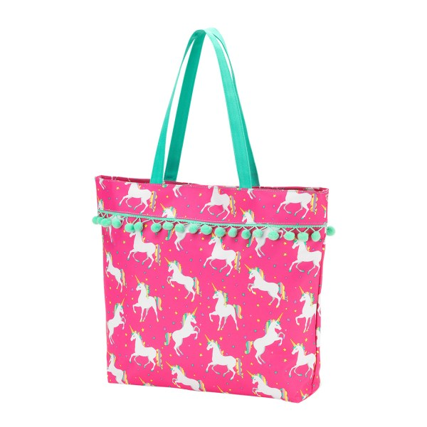 Unicorn Wishes Pom Pom Tote