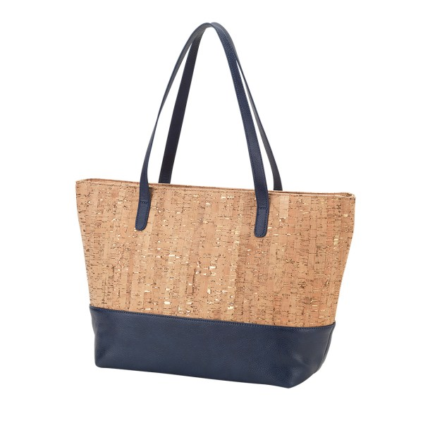 Navy Cork Charlotte Purse