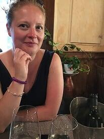 Caroline dining in Florence