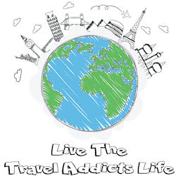 Travel Addicts Life Logo - Small