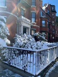 Snow in Back Bay