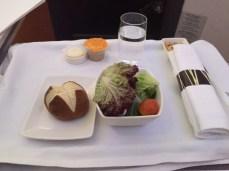 Salad & Pretzel Roll