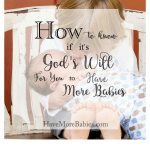How To Know if It's God's Will to Have Another Baby