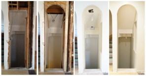 In progress ~ stairways to second floor and basement