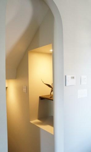 'After' basement stair nook