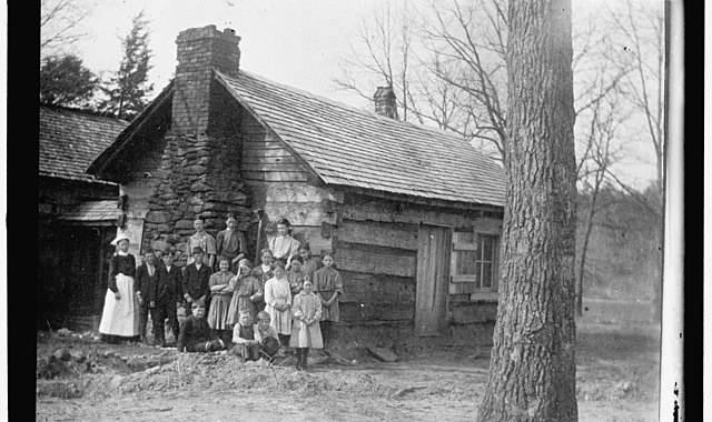Cabin with family