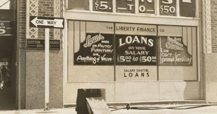 Window offering salary loans