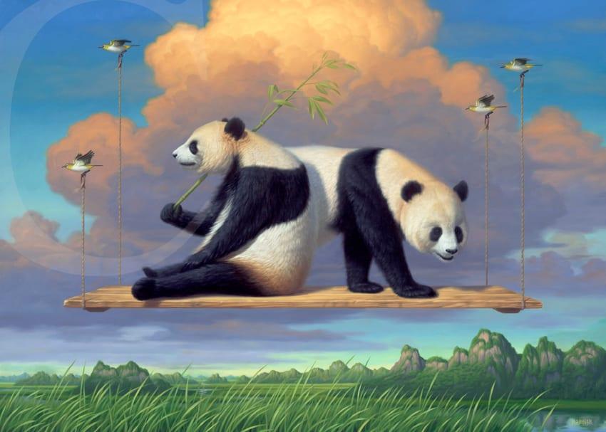 """Phillip Singer """"Pandaramic View"""" Print"""