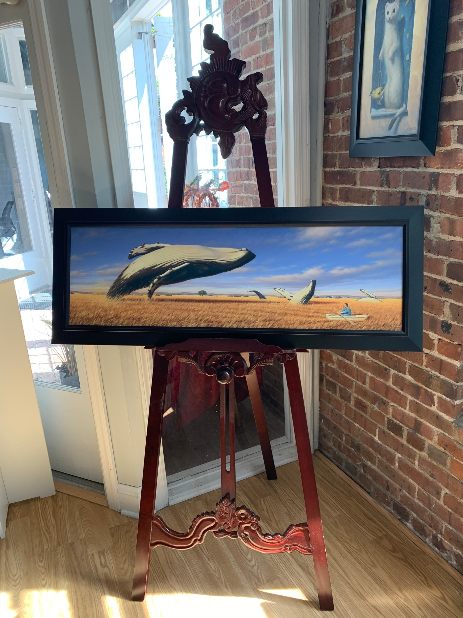 """Phillip Singer """"Whale Watching"""" Framed Print"""