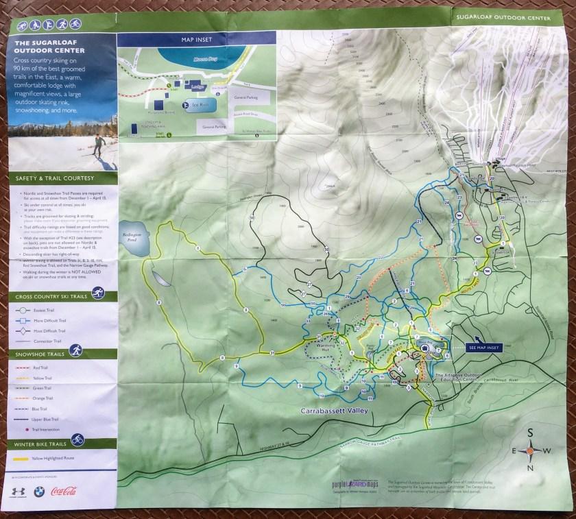 Sugarloaf Outdoor Center Biking trail map
