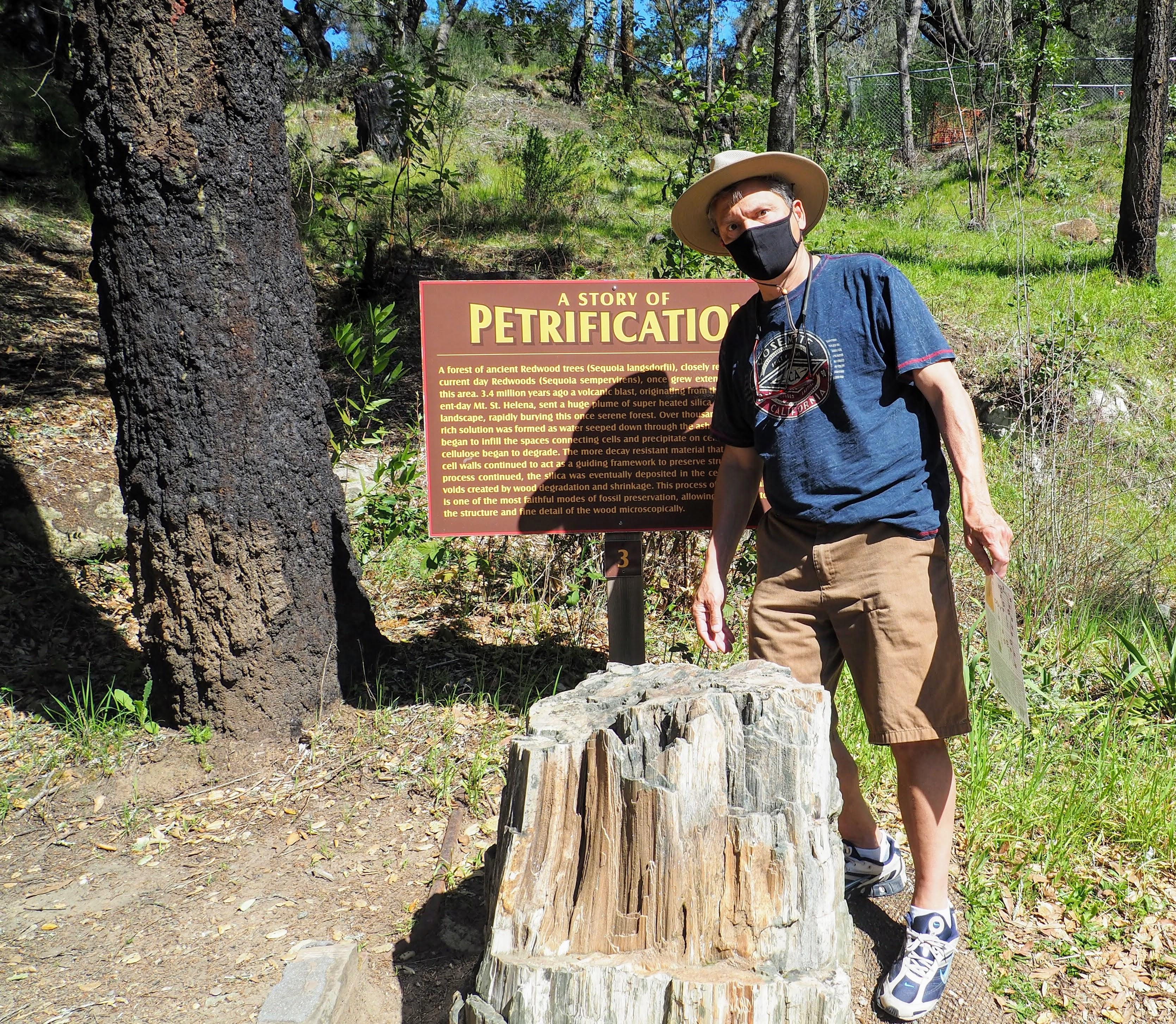 Glenn at Calistoga Petrified Forest