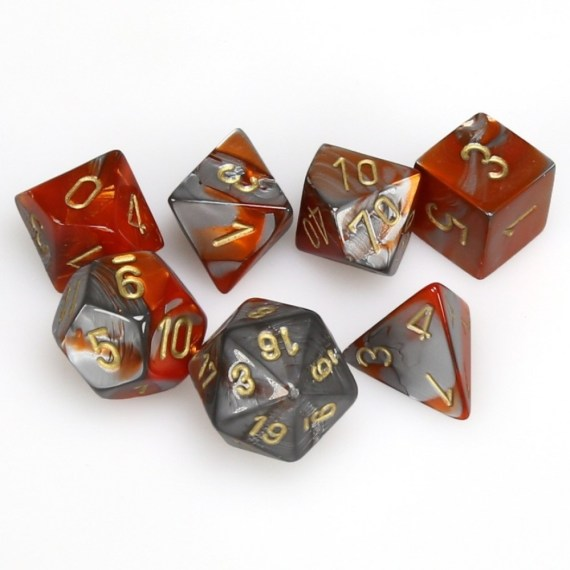chx26461_gemini_polyhedral_orange-steel_w_gold_7-die_set_chessex