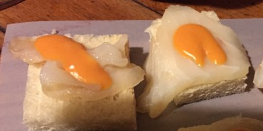 Bacalao (cod) cleverly disguised as eggs
