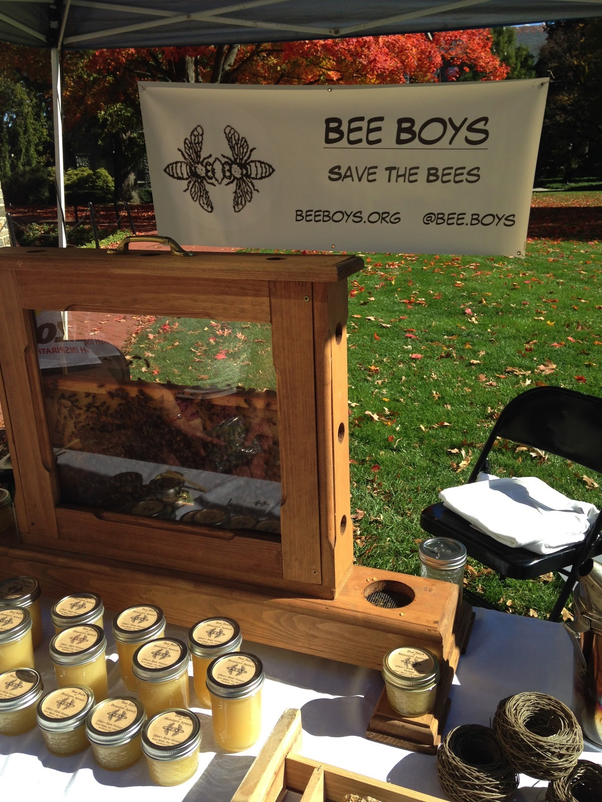 The display from Bee Boys included various products made with honey.