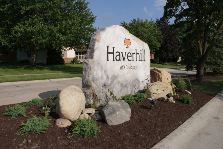 Haverhill neighborhood entrance