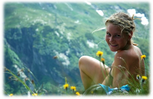 Maren slapper av et en treningstur i Østerrike i sommer. Som tyslig har gitt resultater.