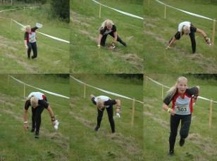 Nina Jeanette Tollehaug slet med å holde seg på beina i oppløpet