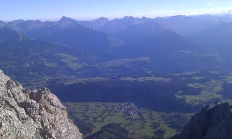 Utsikt fra Ramsauer Klettersteig