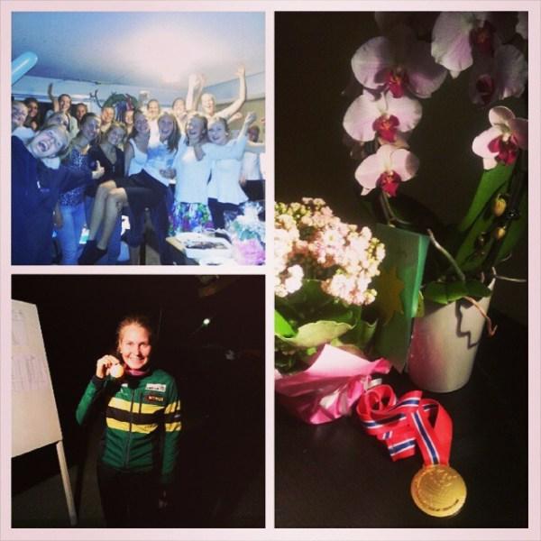 Tusen takk for alle gratulasjoner etter fredagens natt NM gull! Rå følelse. Utrolig hyggelig å bli feiret av verdens beste jenter i kveld. Nyter hver trening og dag med dere! # NTNUI orientering