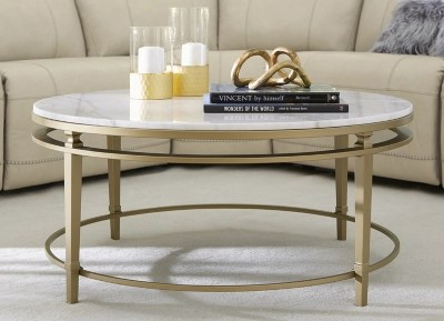 amani round coffee table