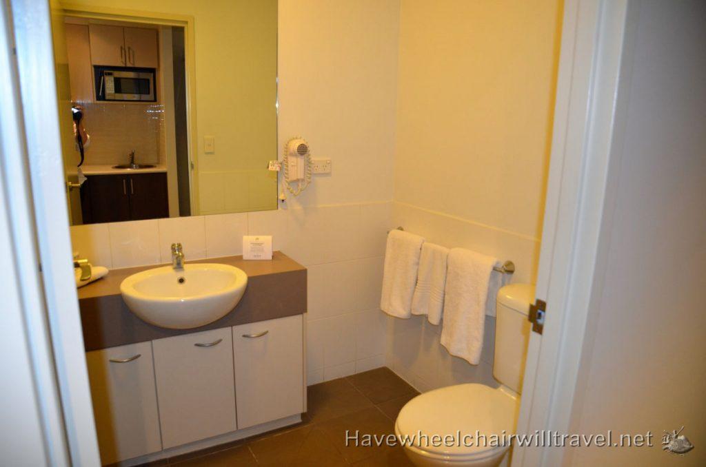 Non-accessible bathroom Quest Alice Springs