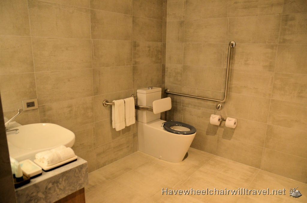 The Westin Brisbane - Accessible Bathroom Toilet and Sink - Accessible Accommodation Brisbane - Have Wheelchair Will Travel
