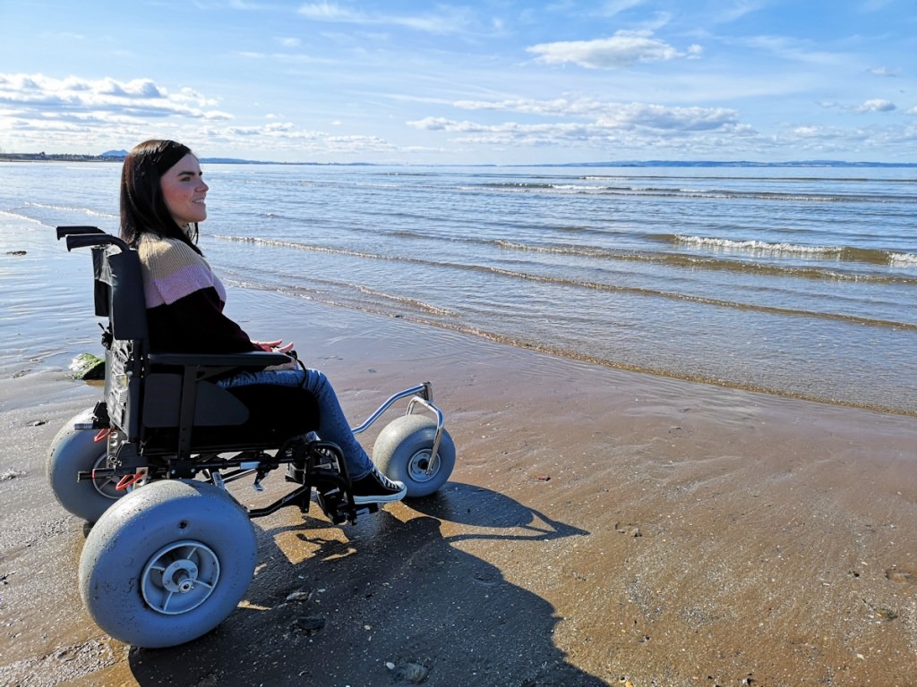 Simply Emma UK using Beachwheels conversion kit - image credit www.simplyemma.co.uk