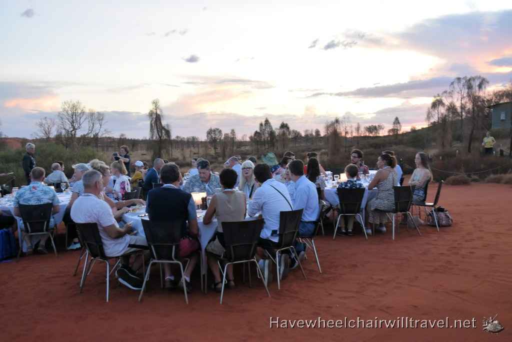 A Night At Field of Light -Sounds of Silence dinner Uluru - Accessible Central Australia - Have Wheelchair Will Travel