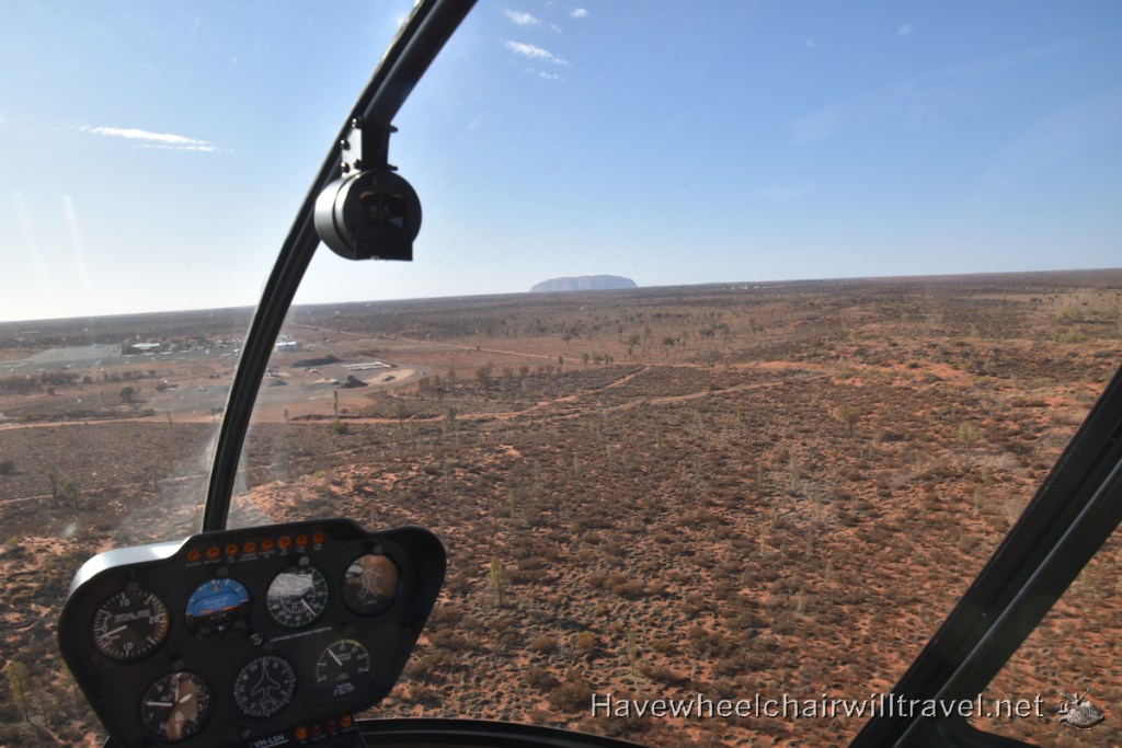 Uluru and Kata Tjuta by helicopter - accessible Central Australia - Have Wheelchair Will Travel