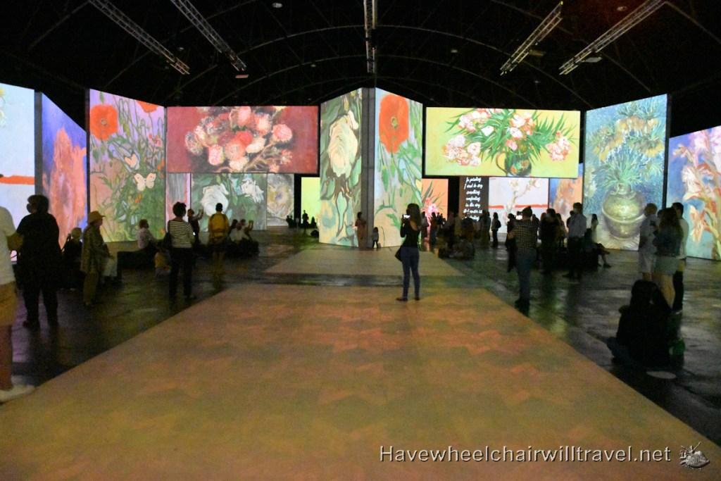 Van Gogh Alive - accessible Sydney - Have Wheelchair Will Travel