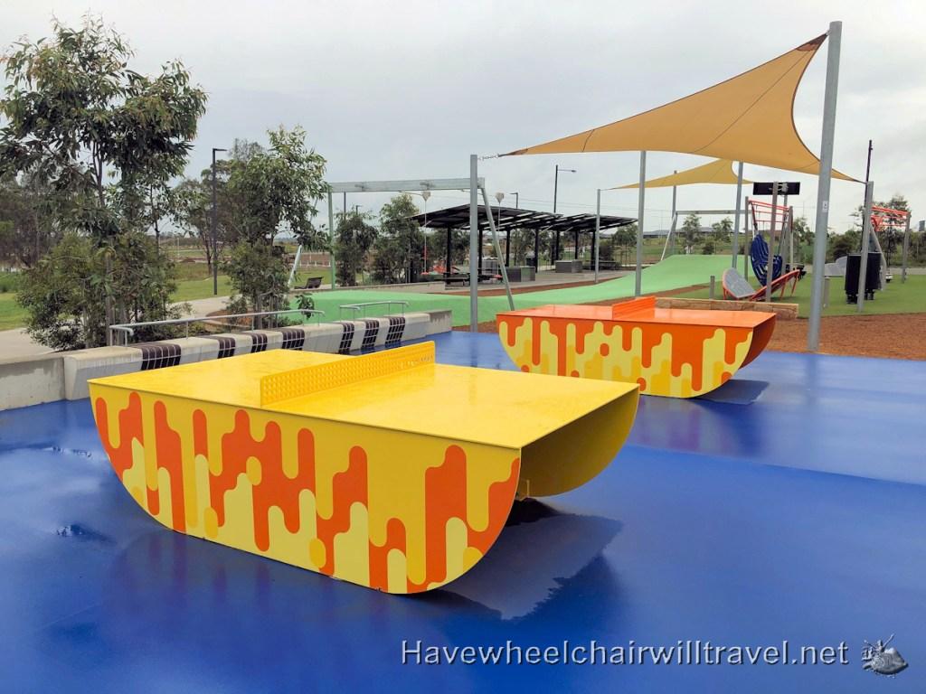 Dawson-Damer Water Park - accessible playground - Have Wheelchair Will Travel