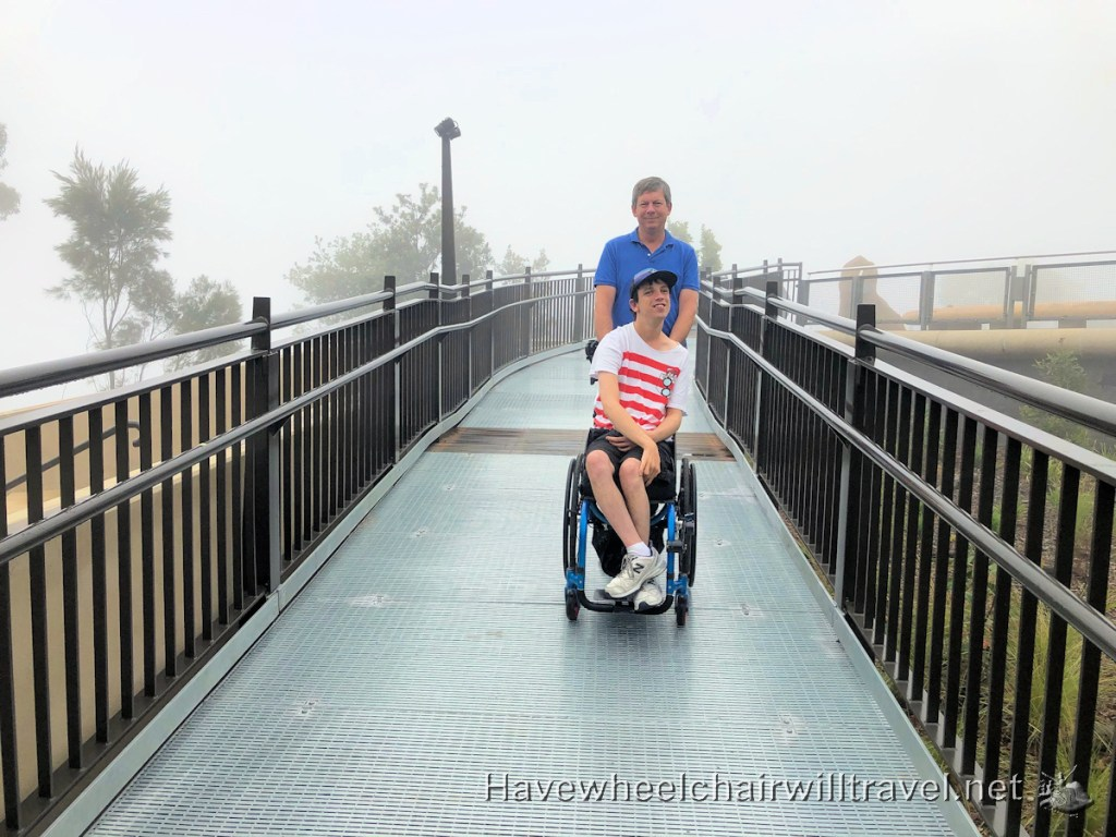Echo Point walkway - Blue Mountains Wheelchair Accessible Guide - Have Wheelchair Will Travel