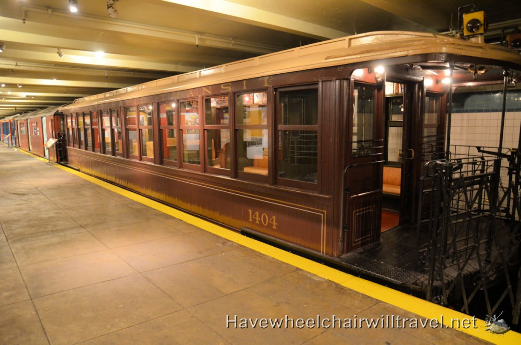 New York Transit Museum - wheelchair accessibility - Have Wheelchair Will Travel