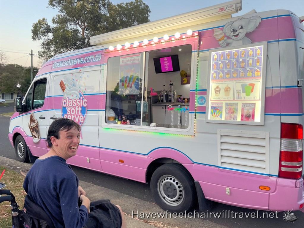 Ice cream van visits in lockdown - Have Wheelchair Will Travel