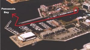 aerial palafox pier