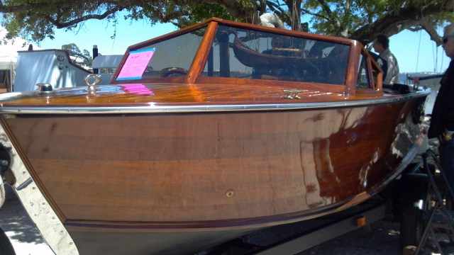 finished wood boat