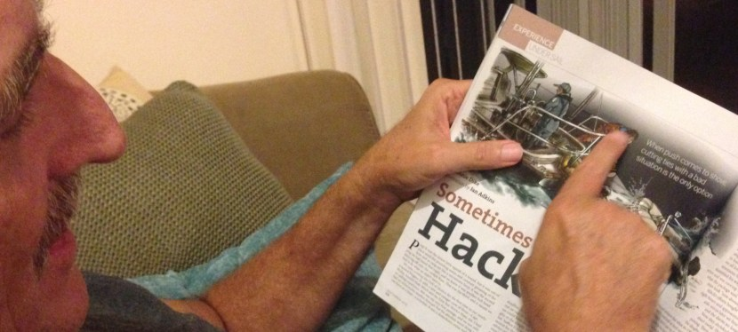 Sometimes You Need a Hacksaw – Article in SAIL Magazine