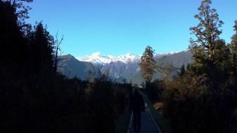 E hiking Lake Matheson mountains