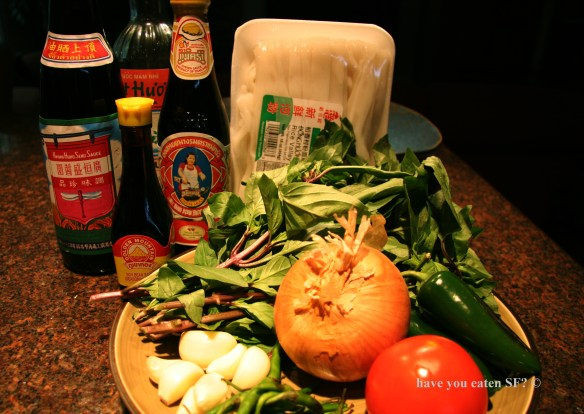 Pad Kee Mao ingredients