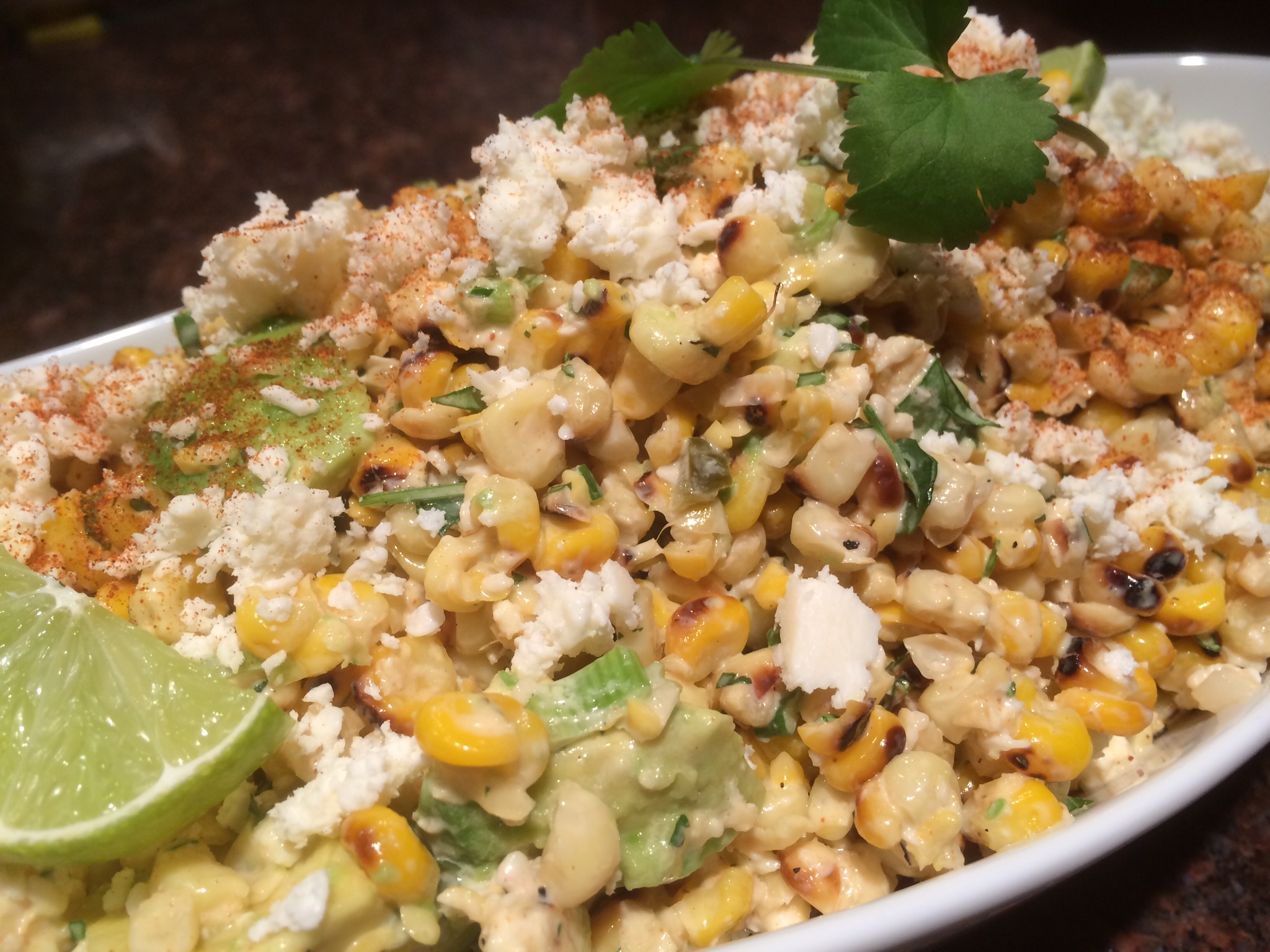esquites mexican grilled corn salad