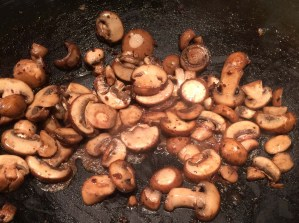 spaghetti sauce wok mushrooms
