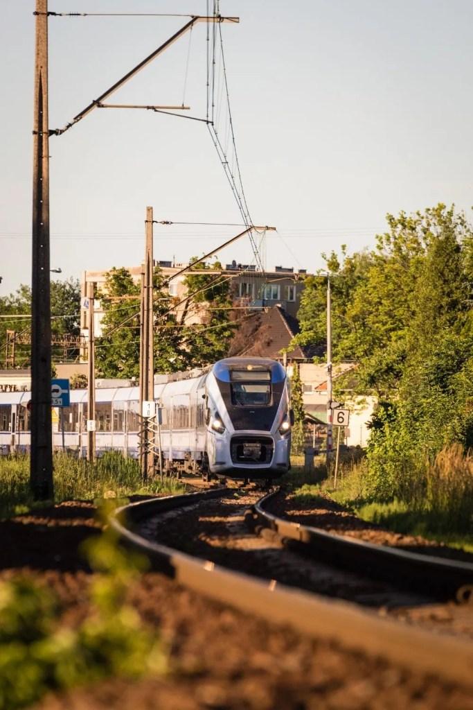 high speed train passing through
