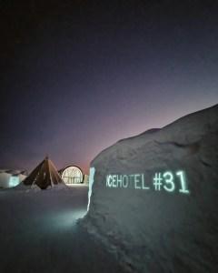 The 31st ice hotel in Jukkasjärvi, Swedish Lapland.