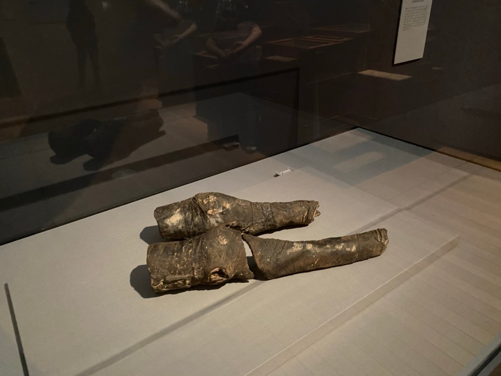 Possibly the Queen's knees? Queen Nefertari's Egypt Exhibit at the Kimbell Museum in Fort Worth