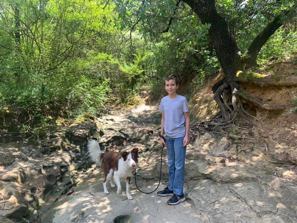 Hiking at Crystal Canyon Natural Area Arlington Texas