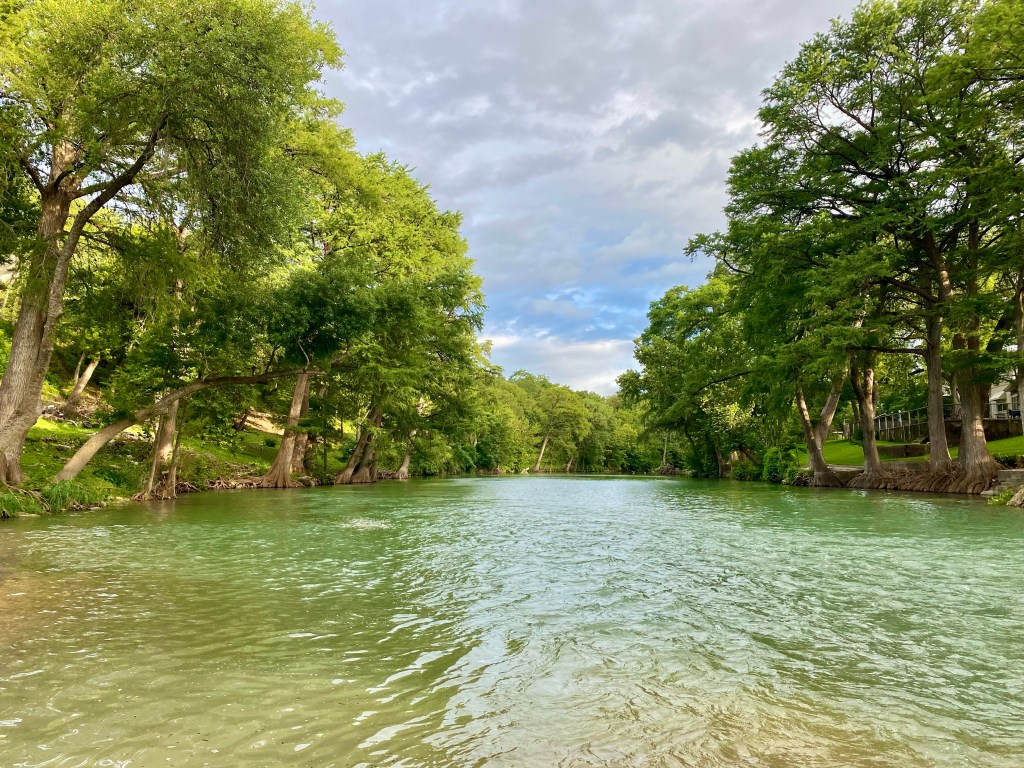 The Guadalupe River in Gruene in the Texas Hill Country.