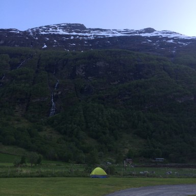 Our tent in Geiranger
