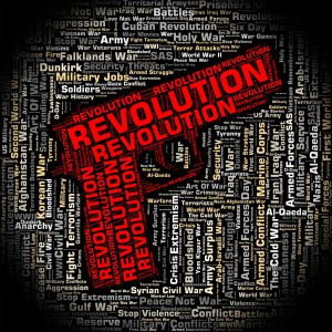 Revolution Word Representing Regime Change And Revolutions